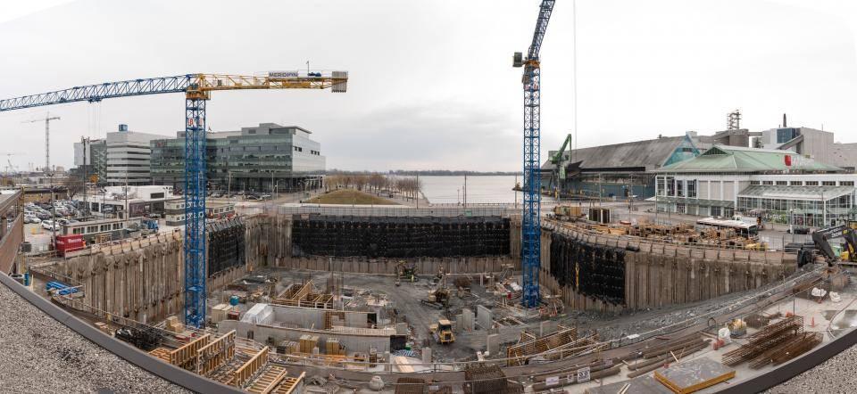 construction site after winning the bid bond