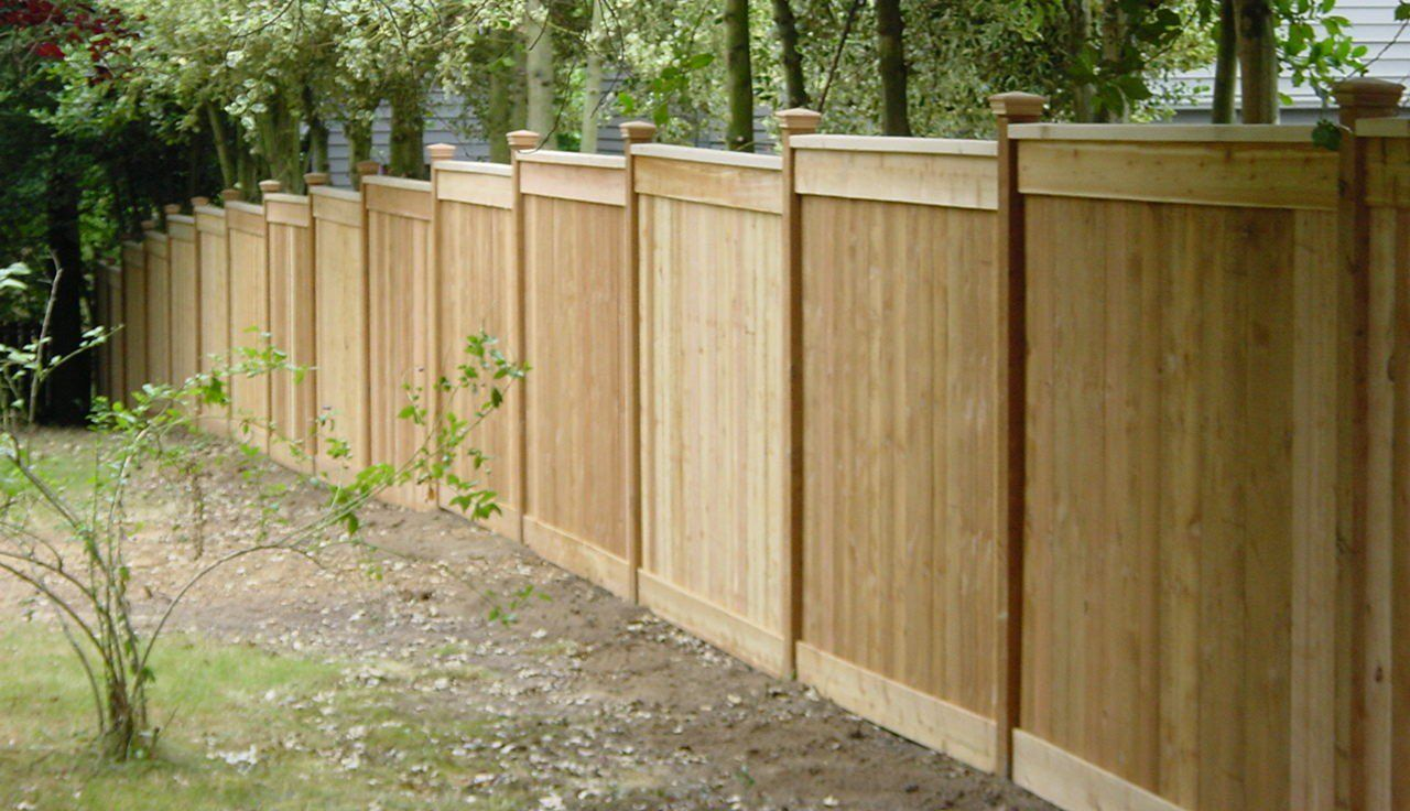 fence being installed in a client backyard in ontario canada